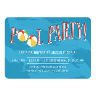 プールを囲んでのパーティ! 招待状