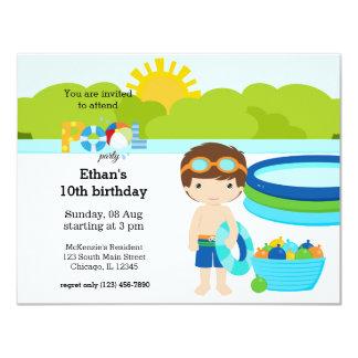 プールを囲んでのパーティ(男の子) カード