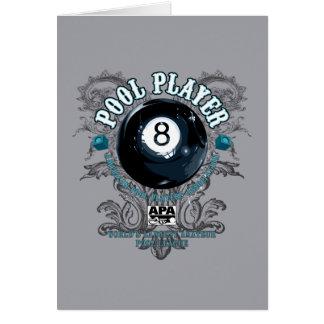 プールプレーヤーの線条細工の8ボール カード