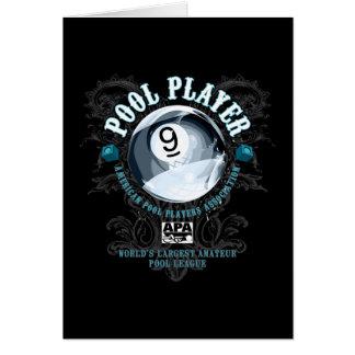 プールプレーヤーの線条細工の9ボール カード