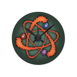 プール原子II ラウンド壁時計