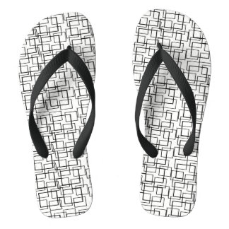プール水反射の白黒の夏 ビーチサンダル