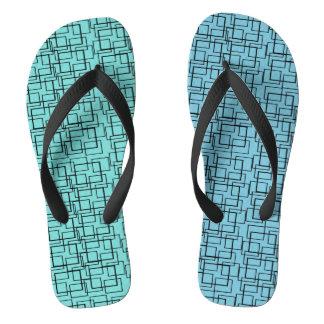 プール水青緑の黒の夏 ビーチサンダル