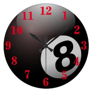 プール8の球のスポーツ ラージ壁時計