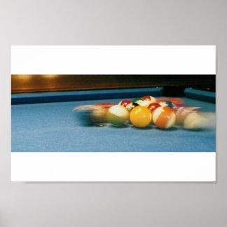 プール/Biliiardsのテーブル、球、ques -- ポスター
