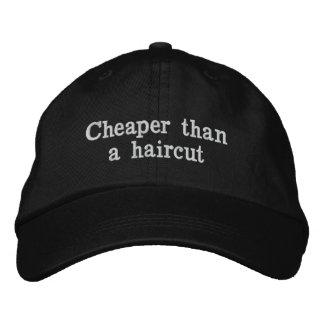 ヘアカットより安い 刺繍入りキャップ