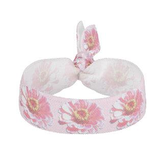 ヘアタイかブレスレット-ピンクの《植物》百日草 ヘアタイ
