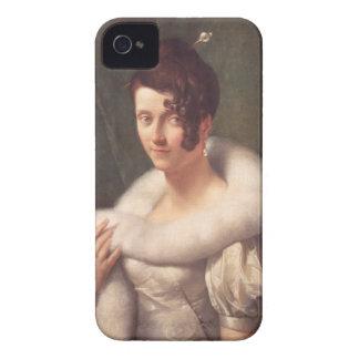 ヘアピンを持つ女性のポートレート Case-Mate iPhone 4 ケース