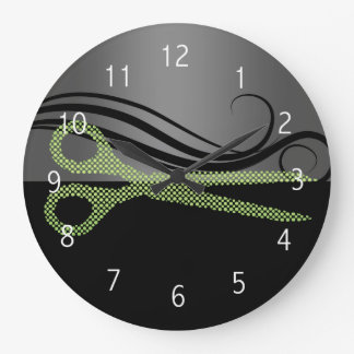 ヘアーサロンの柱時計 ラージ壁時計
