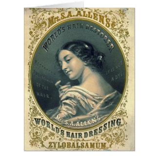 ヘア・トニックの広告1860年 カード