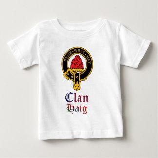 ヘイグのスコットランドの頂上およびタータンチェックの一族の名前 ベビーTシャツ
