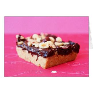 ヘイゼルナッツおよびチョコレートカラメルのバー カード