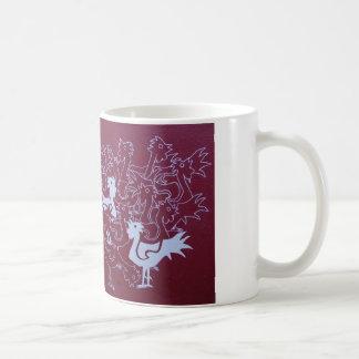 ヘシアンの絵画のプリント、マグのオンドリ コーヒーマグカップ