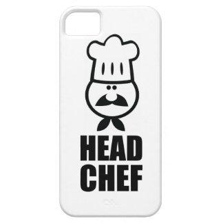 ヘッドシェフの顔及び帽子の黒のデザイン iPhone SE/5/5s ケース
