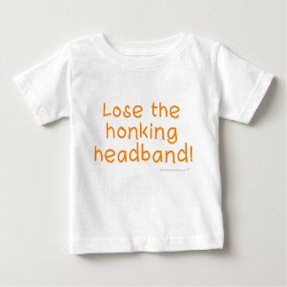 ヘッドバンドの乳児のワイシャツを失って下さい ベビーTシャツ