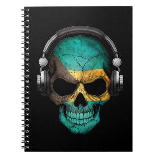ヘッドホーンが付いているバハマカスタマイズ可能なDjのスカル ノートブック