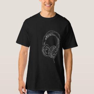 ヘッドホーンの黒板の芸術 Tシャツ