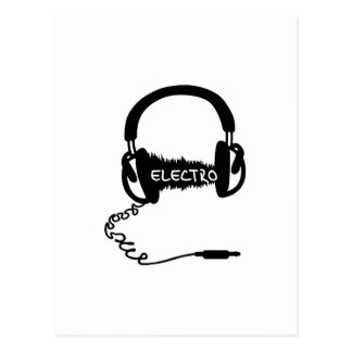 ヘッドホーンのKopfhörerの可聴周波波電子Elektro Mu ポストカード