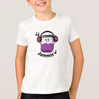 ヘッドホーンのTシャツが付いているJamminの込み合いの瓶 Tシャツ