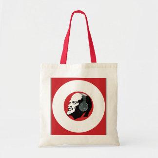 ヘッドホーンを持つレーニン(赤と白) トートバッグ
