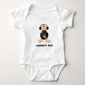 ヘッドホーン及びビニールのカスタマイズ可能な赤ん坊DJ ベビーボディスーツ