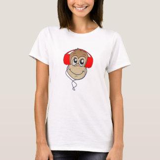 ヘッドホーン猿 Tシャツ