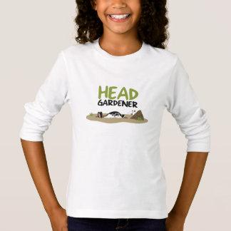 ヘッド庭師のイラストレーション Tシャツ