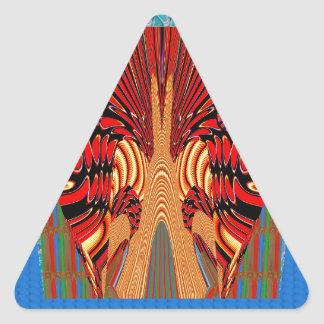 ヘビのエキゾチックなデジタルファンタジーの芸術 三角形シール