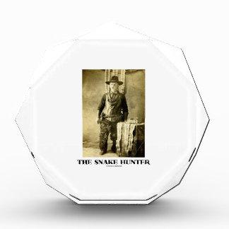 ヘビのハンター(ヴィンテージの写真のスネークスキン) 表彰盾