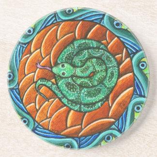 ヘビの曼荼羅のコースター コースター