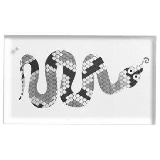 ヘビの灰色および薄い灰色のシルエット テーブルカードホルダー
