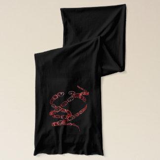 ヘビの芸術をねじること スカーフ