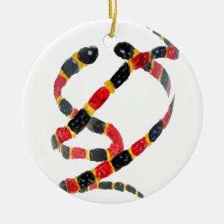 ヘビの芸術をねじること セラミックオーナメント
