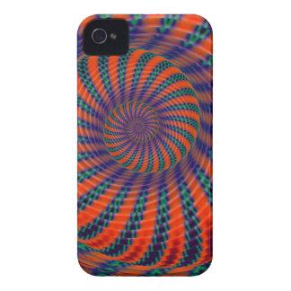 ヘビの螺線形、芸術的な抽象芸術 Case-Mate iPhone 4 ケース