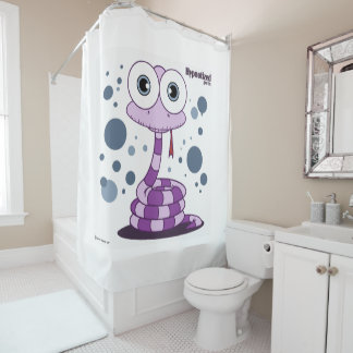 ヘビの(紫色の)シャワー・カーテン シャワーカーテン