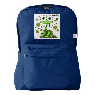 ヘビの(緑の)バックパック、海軍 AMERICAN APPAREL™バックパック