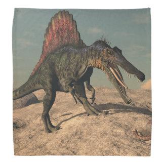 ヘビを捜しているSpinosaurusの恐竜 バンダナ