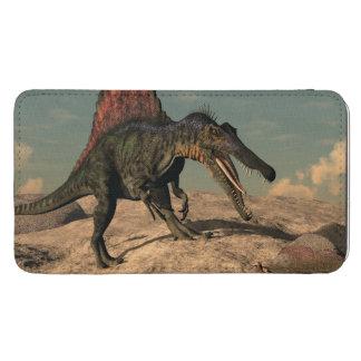 ヘビを捜しているSpinosaurusの恐竜 Galaxy S5 ポーチ