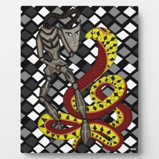 ヘビ使い(蛇及びロボット) フォトプラーク