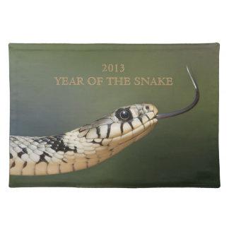 ヘビ2013年のカスタムなヘビの写真の年、ギフト ランチョンマット