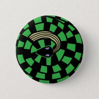 ヘビ-目の錯覚(緑) 缶バッジ