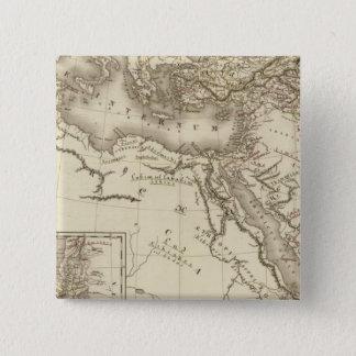 ヘブライの地理学 5.1CM 正方形バッジ