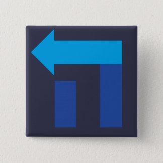 ヘブライヒラリー正方形のボタン 5.1CM 正方形バッジ