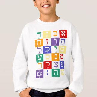 ヘブライ文字の虹 スウェットシャツ