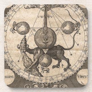 ヘブライ神秘哲学のヴィンテージ コースター