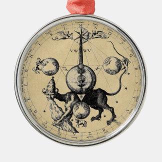 ヘブライ神秘哲学の紋章の曼荼羅 メタルオーナメント