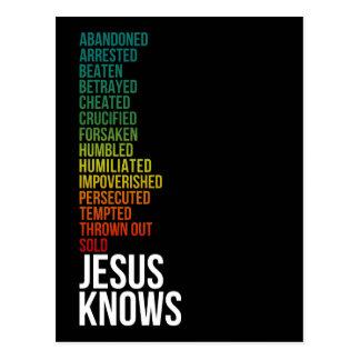 ヘブライ4:15 -イエス・キリストは知っています ポストカード
