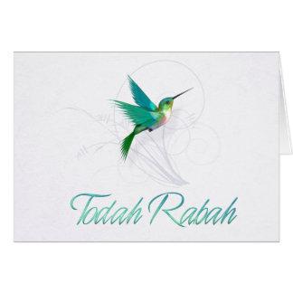 ヘブライ~TodahのRabahの~のハチドリのありがとう カード