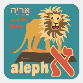 ヘブライAleph賭動物のステッカー スクエアシール