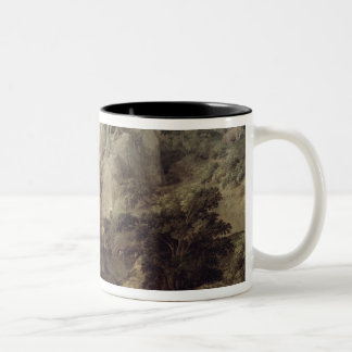 ヘラクレスおよびCacus、c.1656の景色 ツートーンマグカップ